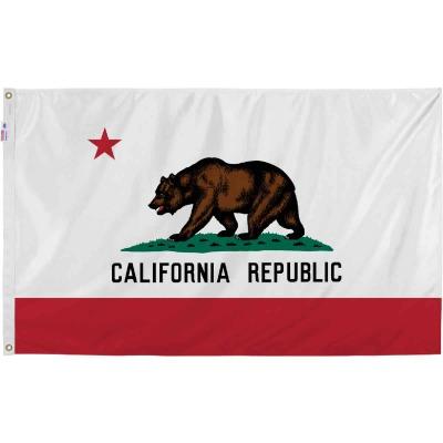 Valley Forge 3 Ft. x 5 Ft. Nylon California State Flag
