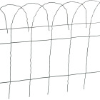 Best Garden 14 In. H x 20 Ft. L Galvanized Wire Decorative Border Fence Image 1