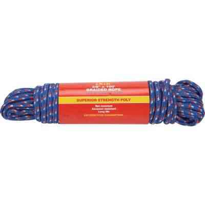 Do it 3/8 In. x 100 Ft. Assorted Colors Double Braided Polypropylene Packaged Rope